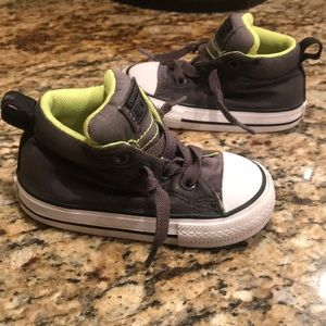 Converse all star classic high tops  grey green 5